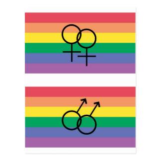 Gay pride flag postcard