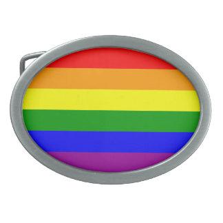 Gay Pride Flag / Rainbow Flag Oval Belt Buckle