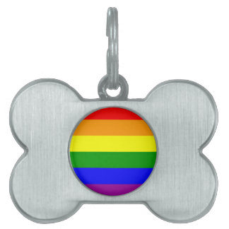 Gay Pride Flag / Rainbow Flag Pet ID Tag