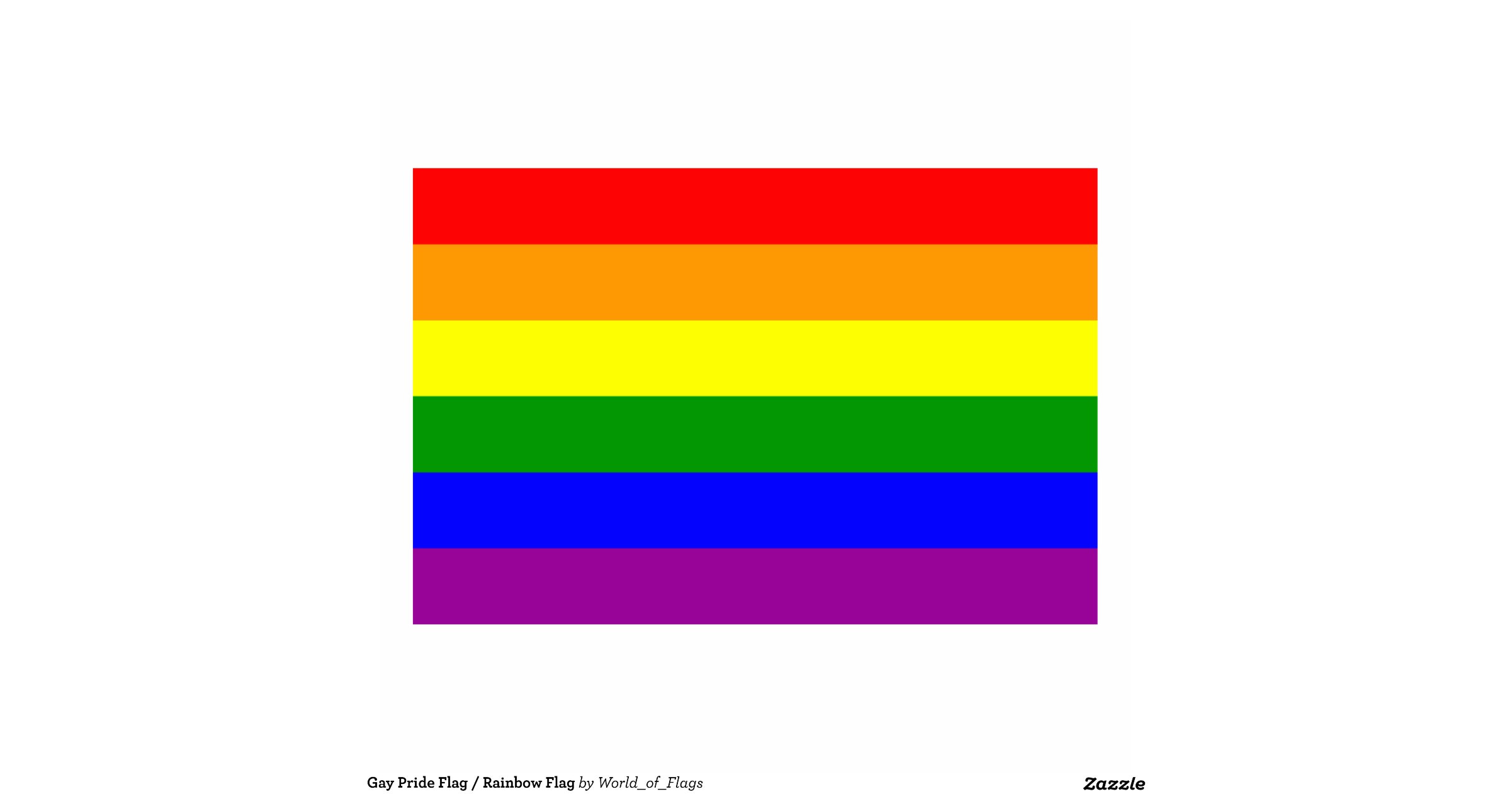 Gay Pride Flag Rainbow Flag Standing Photo Sculpture