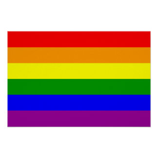 Gay Pride Flag / Rainbow Flag Poster