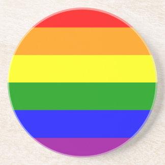 Gay Pride Flag Sandstone Coaster