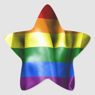Gay Pride Flag Star Shaped Sticker