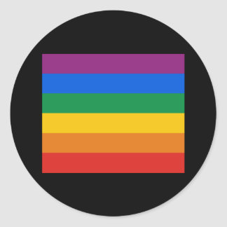 Gay Pride Flag T-shirt Classic Round Sticker