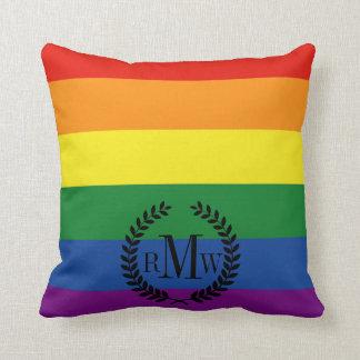 Gay pride Flag Throw Pillows