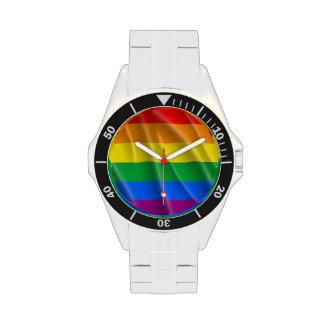 GAY PRIDE FLAG WAVY DESIGN - 2014 PRIDE WRIST WATCH