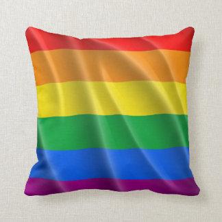 GAY PRIDE FLAG WAVY DESIGN THROW PILLOWS