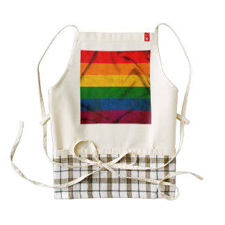 Gay Pride Flag Zazzle HEART Apron