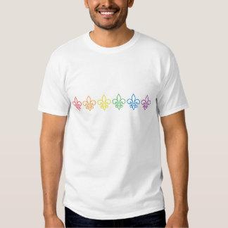 Gay Pride - Fleur De Lis Rainbow T-Shirt