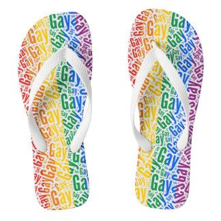 Gay Pride Flip Flops