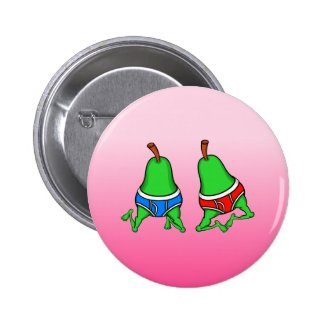 Gay Pride Funny Dancing Fruit 2 Inch Round Button