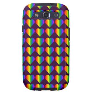 Gay Pride Galaxy S3 Case Rainbow Love Case