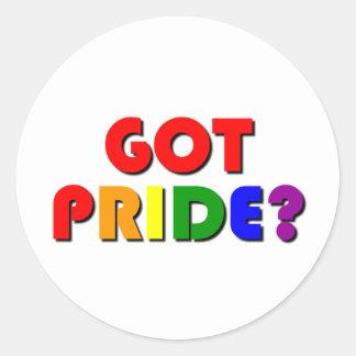 Gay Pride Gift Classic Round Sticker