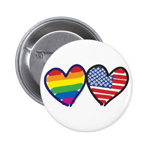 GAY-PRIDE-HEART-AND-FLAG PINBACK BUTTON