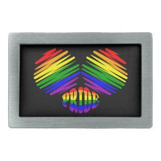 Gay Pride Heart Belt Buckle