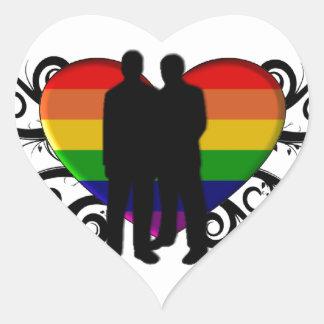 Gay Pride Heart for Men Heart Sticker