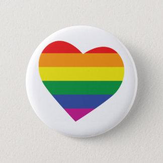 Gay Pride Heart Pinback Button