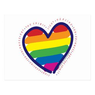 Gay Pride Heart Postcard