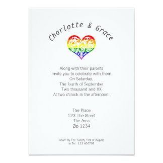 Gay Pride Heart Simple Elegance Card
