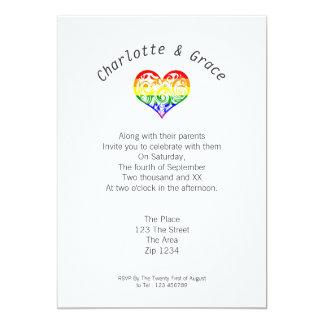 Gay Pride Heart Simple Elegance Custom Announcement