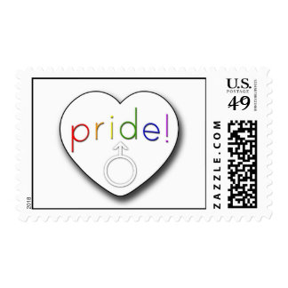 Gay Pride Heart Stamp