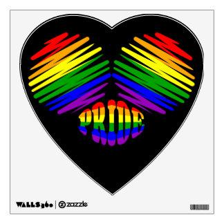 Gay Pride Heart Wall Sticker