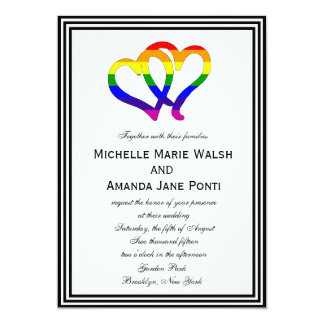 Gay Pride Heart Wedding Invitation #LoveWins