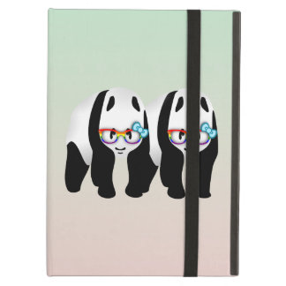 Gay Pride Hipster Pandas Cover For iPad Air