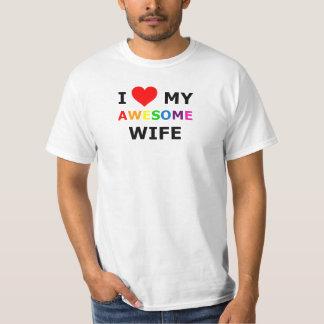 "GAY PRIDE :I LOVE MY AWESOME WIFE"" TEE SHIRT"