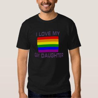 Gay Pride I Love my Gay daughter Rainbow Flag Shirts