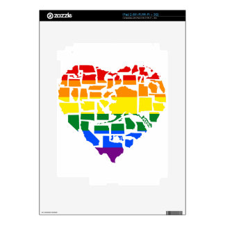 Gay Pride In All 50 States Decal For The iPad 2