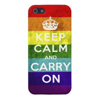 Gay Pride Keep Calm and Carry On Cover For iPhone SE/5/5s