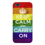 Gay Pride Keep Calm and Carry On Case For iPhone 5/5S