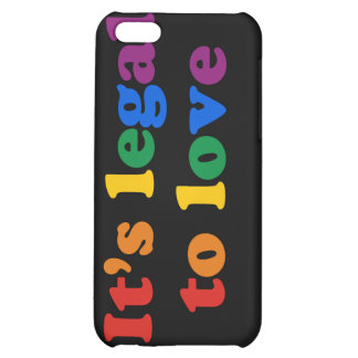 GAY PRIDE LEGAL LOVE iPhone 5C COVERS