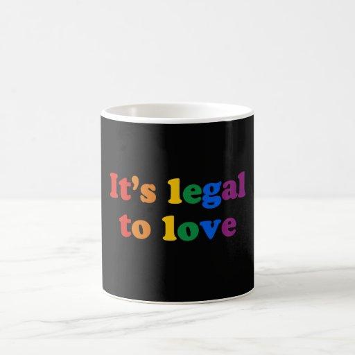 GAY PRIDE LEGAL LOVE - .png Classic White Coffee Mug