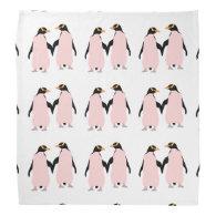 Gay Pride Lesbian Penguins Holding Hands Bandana
