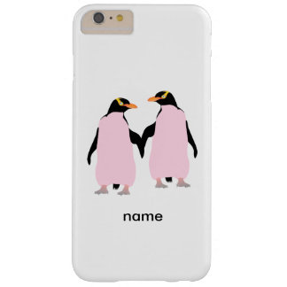 Gay Pride Lesbian Penguins Holding Hands Barely There iPhone 6 Plus Case