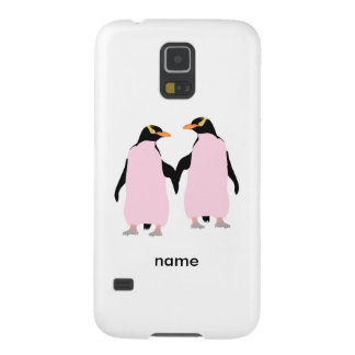 Gay Pride Lesbian Penguins Holding Hands Galaxy S5 Cover