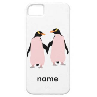 Gay Pride Lesbian Penguins Holding Hands iPhone SE/5/5s Case