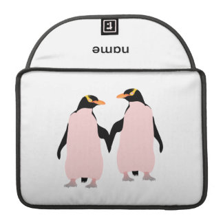 Gay Pride Lesbian Penguins Holding Hands MacBook Pro Sleeve