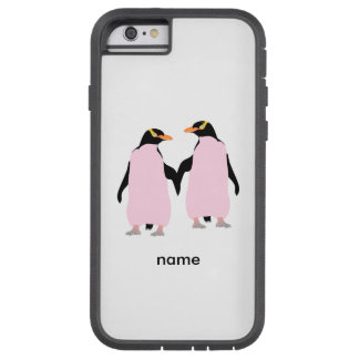 Gay Pride Lesbian Penguins Holding Hands Tough Xtreme iPhone 6 Case
