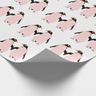 Gay Pride Lesbian Penguins Holding Hands Gift Wrap Paper