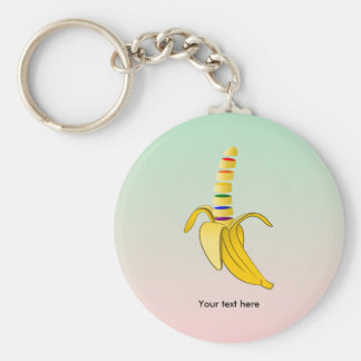 Gay Pride LGBQ Flag Banana Keychain