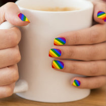 Gay Pride LGBT Rainbow Flag Colors Stripes Minx Nail Art