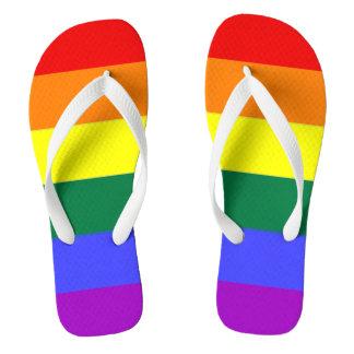 Gay Pride LGBT Rainbow Flag Flip Flops