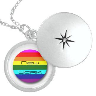 Gay Pride Locket Necklace