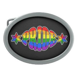 Gay Pride Logo Belt Buckle
