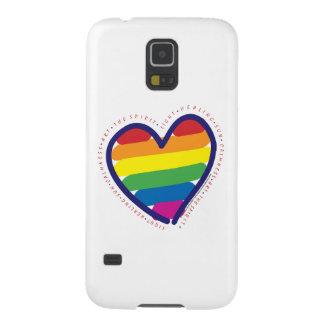 Gay Pride Love Heart Galaxy S5 Case