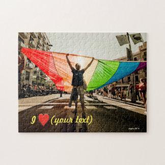 Gay pride march in Barcelona Rompecabeza