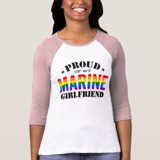 Gay Pride Marine Girlfriend Rainbow Flag T-Shirt